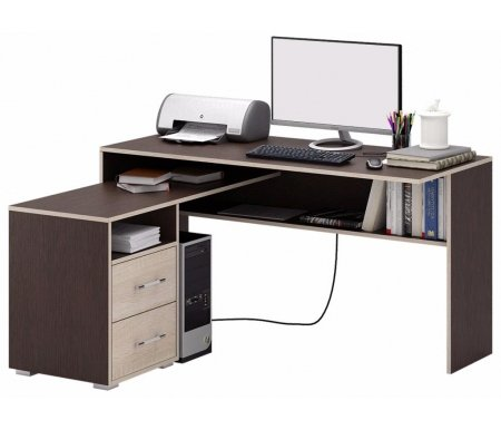 Компьютерный стол Краст-1 МСТ-УСК-01-##-16 венге / дуб сонома (модерн)Компьютерные столы<br>Выдвижные ящики на роликовых направляющих.<br><br>      <br>    <br><br>Срок изготовления - 7 рабочих дней!<br>