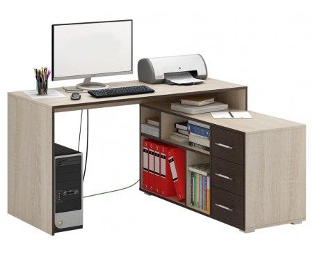 Компьютерный стол Краст-2 МСТ-УСК-02-##-16-ПР правый дуб сонома / венгеКомпьютерные столы<br>Выдвижные ящики на роликовых направляющих.<br><br>  <br><br><br>Срок изготовления - 7 рабочих дней!<br>