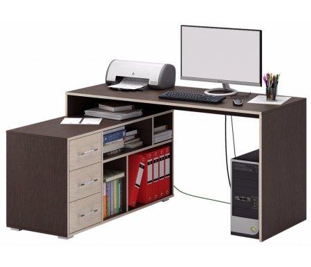 Компьютерный стол Краст-2 МСТ-УСК-02-##-16 венге / дуб сонома (модерн)Компьютерные столы<br>Выдвижные ящики на роликовых направляющих.<br><br>  <br><br><br>Срок изготовления - 7 рабочих дней!<br>