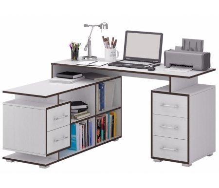 Компьютерный стол Краст-3 МСТ-УСК-03-##-16 белый (контраст)Компьютерные столы<br>Выдвижные ящики на роликовых направляющих.<br><br>Срок изготовления - 7 рабочих дней!<br>