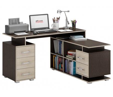 Компьютерный стол Краст-3 МСТ-УСК-03-##-16-ПР правый венге / дуб сономаКомпьютерные столы<br>Выдвижные ящики на роликовых направляющих.<br><br>Срок изготовления - 7 рабочих дней!<br>