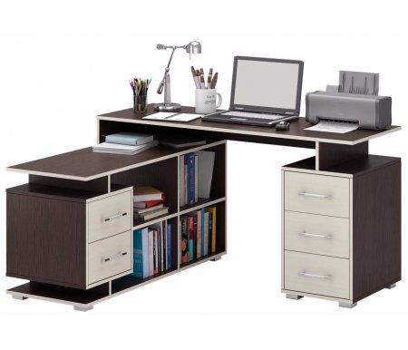 Компьютерный стол Краст-3 МСТ-УСК-03-##-16 венге / дуб молочный (модерн)Компьютерные столы<br>Выдвижные ящики на роликовых направляющих.<br><br>      <br>    <br><br>Срок изготовления - 7 рабочих дней!<br>