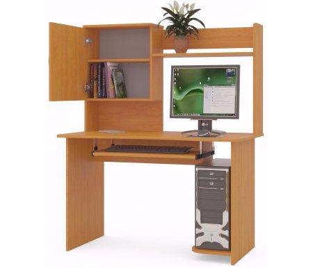 Компьютерный стол КСТ-04+КН-24Компьютерные столы<br>Компьютерный стол КСТ-04+КН-24 оснащен полкой для системного блока, полкой под клавиатуру, ящиком для книг. Стол может быть правым или левым (определяется по расположению системного блока). На картинке представлен правый стол. <br> <br>  <br>  <br>  Стол поставляется в разобранном виде (2 упаковки).<br><br>Длина: 120 см<br>Ширина: 63 см<br>Высота: 144,4 см<br>Вес: 46 кг<br>Материал: ЛДСП<br>Цвет: испанский орех, ноче-экко, ольха, дуб венге