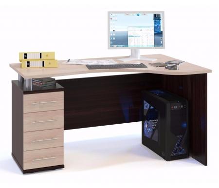 Купить Компьютерный стол Сокол, КСТ-104.1 левый венге / беленый дуб, венге / беленый дуб / беленый дуб