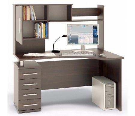 Купить Компьютерный стол Сокол, КСТ-104 + КН-14 левый венге, венге / венге / венге