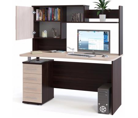 Купить Компьютерный стол Сокол, КСТ-105.1+КН-14 венге / беленый дуб, венге / беленый дуб / беленый дуб