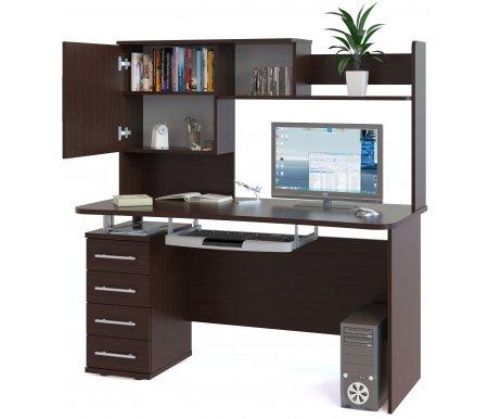 Компьютерный стол КСТ-105 + КН-14Компьютерные столы<br>Стол КСТ-105 + КН-14 станет отличным дополнением в детской комнате или кабинете. <br>Столешница изготовлена из ДСП, толщиной 22 мм, покрытой ПВХ кромкой (толщина 0,4 мм). <br>  Если вы собираетесь ставить стол не у стены, то задняя стенка тумбы выполнена из ДВП и отличается по цвету.<br> <br>   <br>    <br>   <br> <br>  Размеры надстройки: 70,4 см x 139,6 см x 25,6 см.<br> <br>  Поставляется в разобранном виде.<br><br>Длина: 140 см<br>Ширина: 60 см<br>Высота: 147,2 см<br>Материал: ДСП с кромкой ПВХ<br>Цвет: дуб венге, испанский орех, дуб венге / беленый дуб