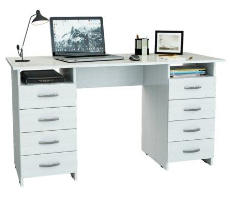 Компьютерный стол Милан-10 МСТ-СДМ-10-##-16 белыйКомпьютерные столы<br>Все ящики на роликовых направляющих.<br>