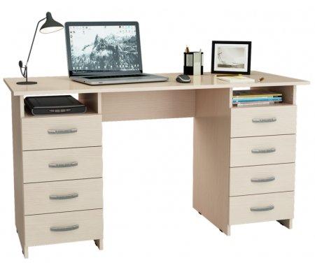 Компьютерный стол Милан-10 МСТ-СДМ-10-##-16 дуб молочныйКомпьютерные столы<br>Все ящики на роликовых направляющих.<br>