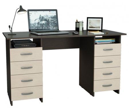 Компьютерный стол Милан-10 МСТ-СДМ-10-##-16 венге / дуб молочныйКомпьютерные столы<br>Все ящики на роликовых направляющих.<br>