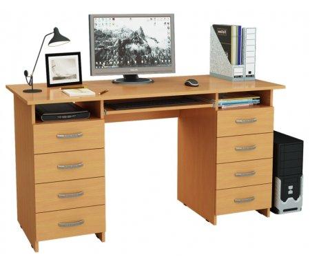 Компьютерный стол Милан-10П МСТ-СДМ-10-ПЛ-##-16 букКомпьютерные столы<br>Ящики и полка для клавиатуры на роликовых направляющих.<br>