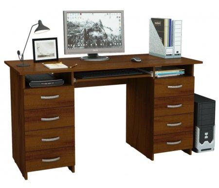 Компьютерный стол Милан-10П МСТ-СДМ-10-ПЛ-##-16 орехКомпьютерные столы<br>Ящики и полка для клавиатуры на роликовых направляющих.<br>