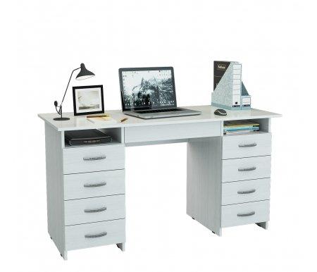 Компьютерный стол Милан-10Я МСТ-СДМ-10-ЯЩ-##-16 белыйКомпьютерные столы<br>Ящики на роликовых направляющих.<br>