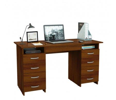 Компьютерный стол Милан-10Я МСТ-СДМ-10-ЯЩ-##-16 орехКомпьютерные столы<br>Ящики на роликовых направляющих.<br>