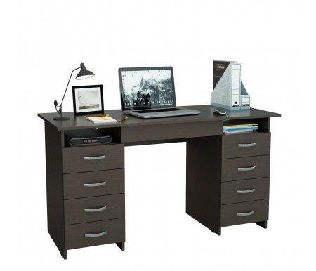 Компьютерный стол Милан-10Я МСТ-СДМ-10-ЯЩ-##-16 венгеКомпьютерные столы<br>Ящики на роликовых направляющих.<br>