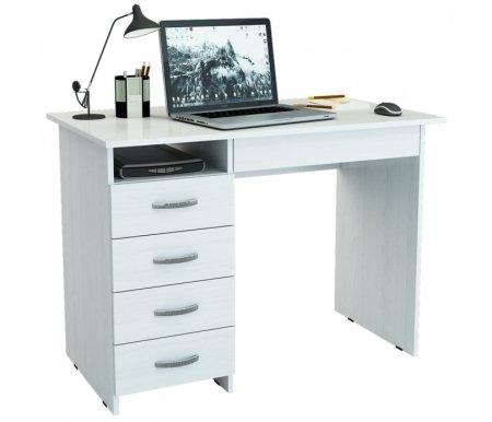Компьютерный стол Милан-1 МСТ-СДМ-01-##-16 белыйКомпьютерные столы<br>Ящики на роликовых направляющих.<br>