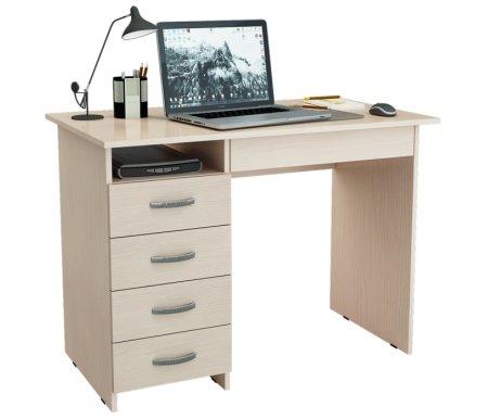 Компьютерный стол Милан-1 МСТ-СДМ-01-##-16 дуб молочныйКомпьютерные столы<br>Ящики на роликовых направляющих.<br>
