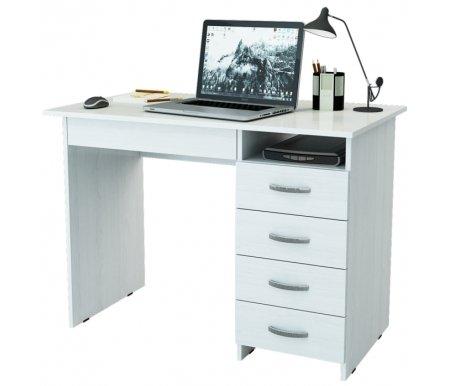 Компьютерный стол Милан-1 МСТ-СДМ-01-##-16-ПР белыйКомпьютерные столы<br>Ящики на роликовых направляющих. Эту модель можно приобрести как с ящиками с правой стороны, так и с левой.<br>