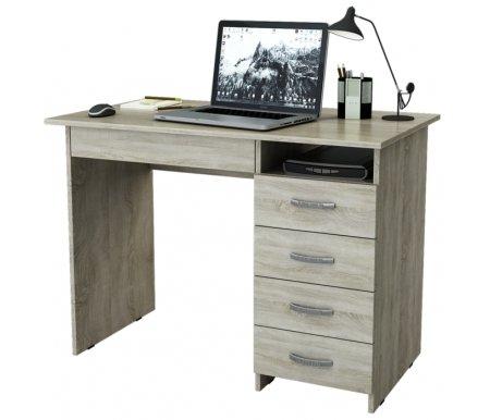 Компьютерный стол Милан-1 МСТ-СДМ-01-##-16-ПР дуб сономаКомпьютерные столы<br>Ящики на роликовых направляющих. Эту модель можно приобрести как с ящиками с правой стороны, так и с левой.<br>