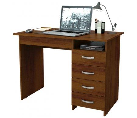 Компьютерный стол Милан-1 МСТ-СДМ-01-##-16-ПР орехКомпьютерные столы<br>Ящики на роликовых направляющих. Эту модель можно приобрести как с ящиками с правой стороны, так и с левой.<br>