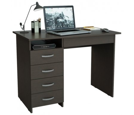 Компьютерный стол Милан-1 МСТ-СДМ-01-##-16 венгеКомпьютерные столы<br>Ящики на роликовых направляющих.<br>