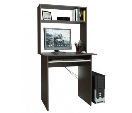 Компьютерный стол Милан-2 МСТ-СДМ-02-##-16 с надставкой МСТ-НСМ-МЛ-##-16 венге / дуб молочныйКомпьютерные столы<br>Параметры надставки (В х Г х Ш): 75 см х 25 см х 76,4 см.<br>