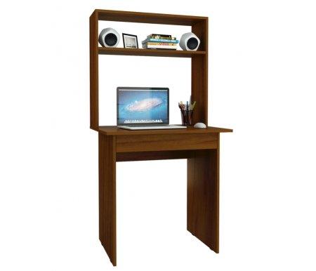 Компьютерный стол Милан-2Я МСТ-СДМ-2Я-##-16 с надставкой МСТ-НСМ-МЛ-##-16 орехКомпьютерные столы<br>Параметры надставки (В х Г х Ш): 75 см х 25 см х 76,4 см.<br>