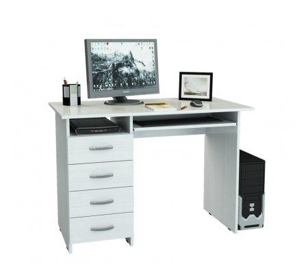 Компьютерный стол Милан-3 МСТ-СДМ-03-##-16 белыйКомпьютерные столы<br>Выдвижные ящики на роликовых направляющих. <br>Размещение тумбы возможно как с правой, так и с левой стороны.При заказе необходимо выбрать нужный вариант.<br>
