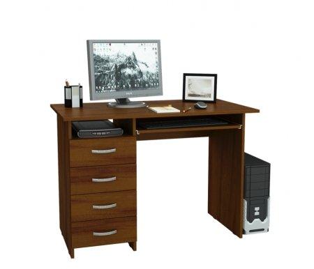 Компьютерный стол Милан-3 МСТ-СДМ-03-##-16 орехКомпьютерные столы<br>Выдвижные ящики на роликовых направляющих. <br>Размещение тумбы возможно как с правой, так и с левой стороны.При заказе необходимо выбрать нужный вариант.<br>