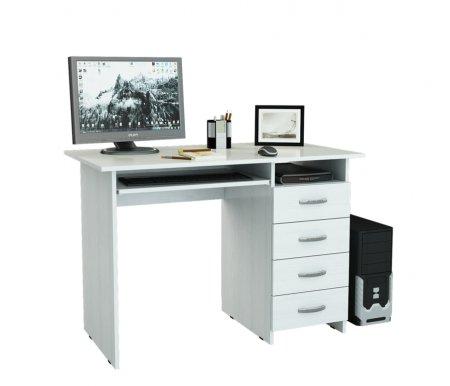 Компьютерный стол Милан-3 МСТ-СДМ-03-##-16-ПР белыйКомпьютерные столы<br>Выдвижные ящики на роликовых направляющих. <br>Размещение тумбы возможно как с правой, так и с левой стороны.При заказе необходимо выбрать нужный вариант.<br>