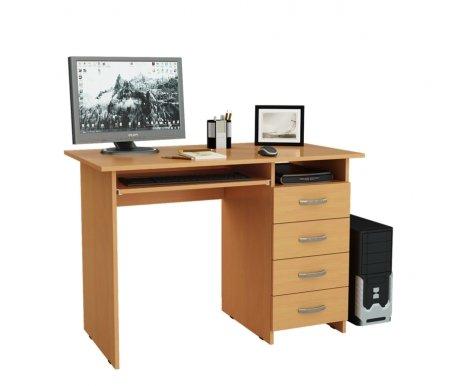 Компьютерный стол Милан-3 МСТ-СДМ-03-##-16-ПР букКомпьютерные столы<br>Выдвижные ящики на роликовых направляющих.<br>Размещение тумбы возможно как с правой, так и с левой стороны.При заказе необходимо выбрать нужный вариант.<br>