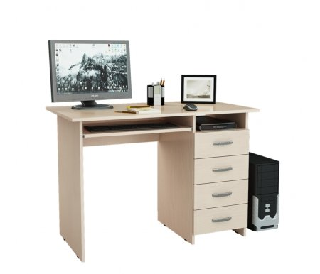 Компьютерный стол Милан-3 МСТ-СДМ-03-##-16-ПР дуб молочныйКомпьютерные столы<br>Выдвижные ящики на роликовых направляющих. <br>Размещение тумбы возможно как с правой, так и с левой стороны.При заказе необходимо выбрать нужный вариант.<br>