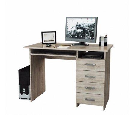 Компьютерный стол Милан-3 МСТ-СДМ-03-##-16-ПР дуб сономаКомпьютерные столы<br>Выдвижные ящики на роликовых направляющих. <br>Размещение тумбы возможно как с правой, так и с левой стороны.При заказе необходимо выбрать нужный вариант.<br>