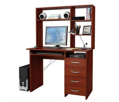 Компьютерный стол Милан-3 МСТ-СДМ-03-##-16-ПР с надставкой МСТ-НСМ-СР-##-16 итальянский орехКомпьютерные столы<br>Выдвижные ящики на роликовых направляющих. <br>Размещение тумбы возможно как с правой, так и с левой стороны.При заказе необходимо выбрать нужный вариант.<br> <br>Параметры надставки (В х Г х Ш): 75 см х 25 см х 110 см.<br>