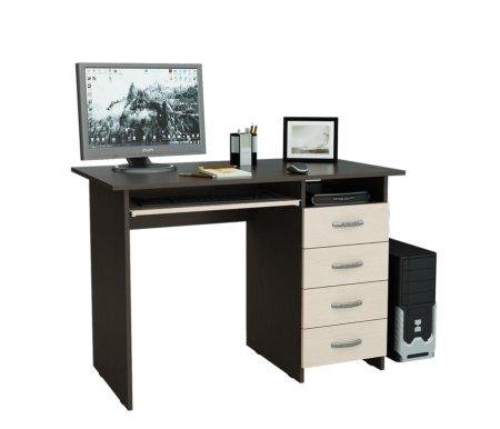 Компьютерный стол Милан-3 МСТ-СДМ-03-##-16-ПР венге / дуб молочныйКомпьютерные столы<br>Выдвижные ящики на роликовых направляющих. <br>Размещение тумбы возможно как с правой, так и с левой стороны.При заказе необходимо выбрать нужный вариант.<br>