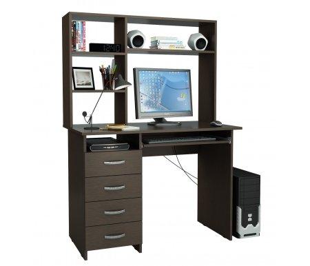 Компьютерный стол Милан-3 МСТ-СДМ-03-##-16 с надставкой МСТ-НСМ-СР-##-16 венгеКомпьютерные столы<br>Выдвижные ящики на роликовых направляющих. <br>Размещение тумбы возможно как с правой, так и с левой стороны.При заказе необходимо выбрать нужный вариант.<br> <br>Параметры надставки (В х Г х Ш): 75 см х 25 см х 110 см.<br>