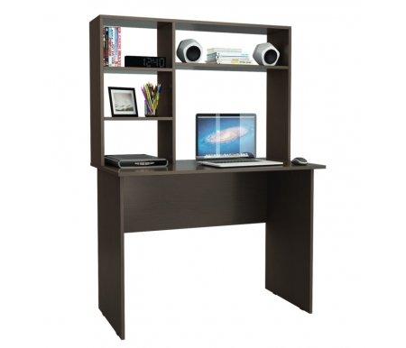 Компьютерный стол Милан-5 МСТ-СДМ-05-##-16 с надставкой МСТ-НСМ-СР-##-16 венгеКомпьютерные столы<br>Параметры надставки (В х Ш х Г): 75 см х 110 см х 25 см.<br>