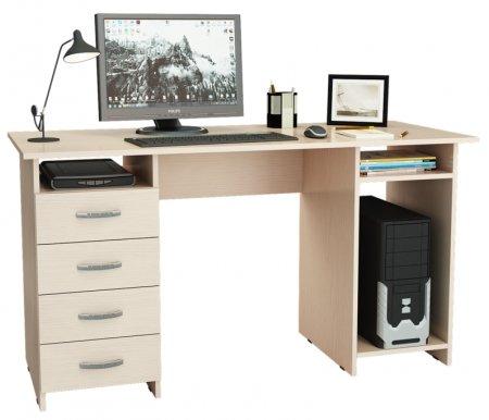 Компьютерный стол Милан-6 МСТ-СДМ-06-##-16 дуб молочныйКомпьютерные столы<br><br>