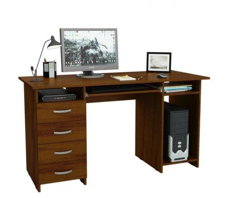 Компьютерный стол Милан-6П МСТ-СДМ-6П-##-16 орехКомпьютерные столы<br>Выдвижные ящики на роликовых направляющих.<br>