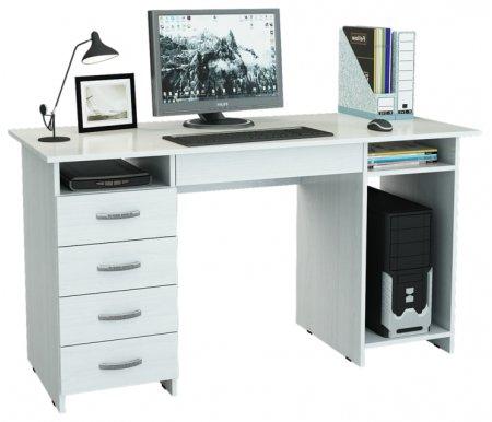 Компьютерный стол Милан-6Я МСТ-СДМ-6Я-##-16 белыйКомпьютерные столы<br>Ящики на роликовых направляющих.<br>