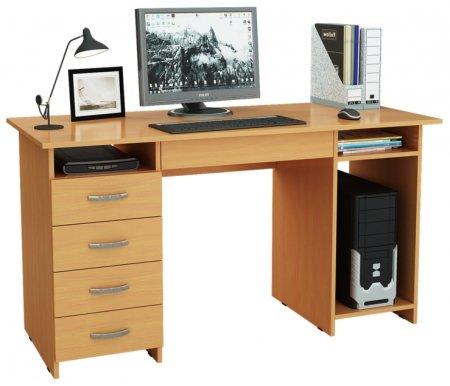 Компьютерный стол Милан-6Я МСТ-СДМ-6Я-##-16 букКомпьютерные столы<br>Ящики на роликовых направляющих.<br>