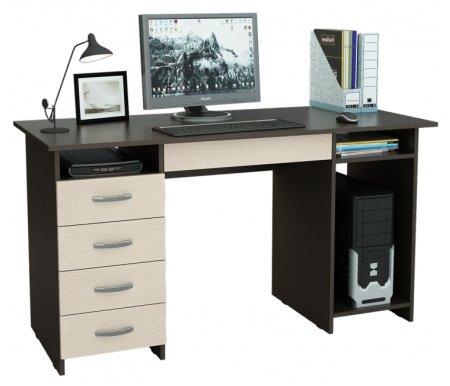 Компьютерный стол Милан-6Я МСТ-СДМ-6Я-##-16 венге / дуб молочныйКомпьютерные столы<br>Ящики на роликовых направляющих.<br>