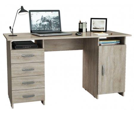 Компьютерный стол Милан-7 МСТ-СДМ-07-##-16 дуб сономаКомпьютерные столы<br>Все ящики на роликовых направляющих.<br>