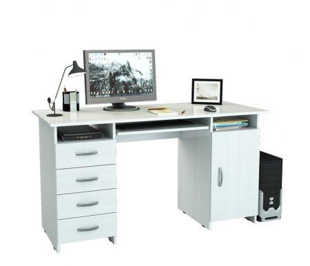 Компьютерный стол Милан-7П МСТ-СДМ-7П-##-16 белыйКомпьютерные столы<br>Выдвижные ящики на роликовых направляющих.<br>