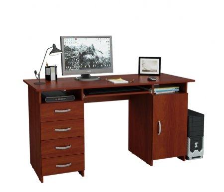 Компьютерный стол Милан-7П МСТ-СДМ-7П-##-16 орех итальянскийКомпьютерные столы<br>Выдвижные ящики на роликовых направляющих.<br>
