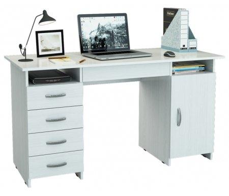 Компьютерный стол Милан-7Я МСТ-СДМ-7Я-##-16 белыйКомпьютерные столы<br>Ящики на роликовых направляющих.<br>
