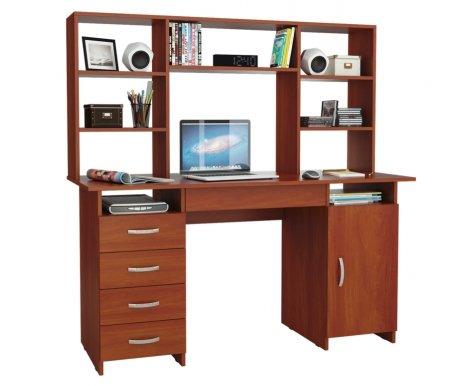 Компьютерный стол Милан-7Я МСТ-СДМ-7Я-##-16 с надставкой МСТ-НСМ-БШ-##-16 итальянский орехКомпьютерные столы<br>Параметры надставки (В х Г х Ш): 75 см х 25 см х 143,6 см.<br>