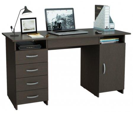 Компьютерный стол Милан-7Я МСТ-СДМ-7Я-##-16 венгеКомпьютерные столы<br>Ящики на роликовых направляющих.<br>