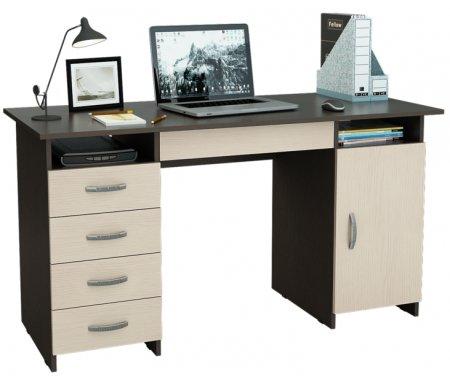 Компьютерный стол Милан-7Я МСТ-СДМ-7Я-##-16 венге / дуб молочныйКомпьютерные столы<br>Ящики на роликовых направляющих.<br>