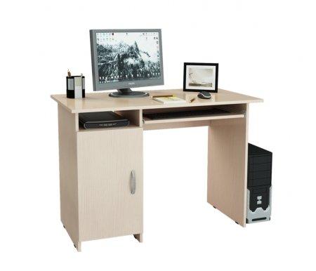 Компьютерный стол Милан-8 МСТ-СДМ-08-##-16 дуб молочныйКомпьютерные столы<br>Выдвижные ящики на роликовых направляющих.<br>Размещение тумбы возможно как с правой, так и с левой стороны.При заказе необходимо выбрать нужный вариант.<br>